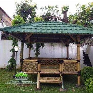 Jasa Pembuatan Saung Gazebo Bambu Kayu Kelapa Kayu Jati